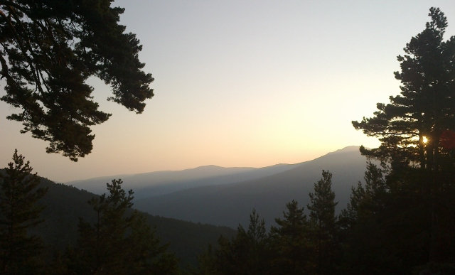 Sunrise over Valsaín