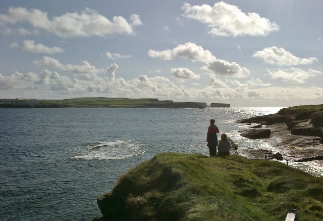 Looking out across Kilkee Bay and towards the Atlantic.