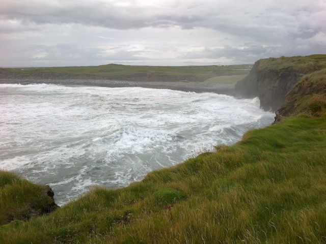 The sea frothing up a storm near Doolin..but the sky seemed to have calmed down.