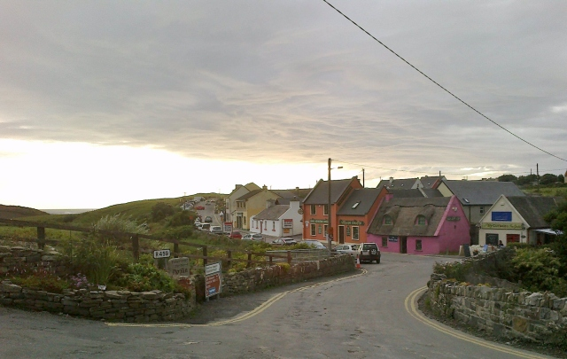 The picturesque town center of Doolin.