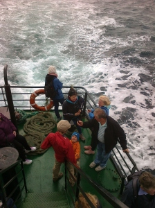 On the boat to Inis Óir.